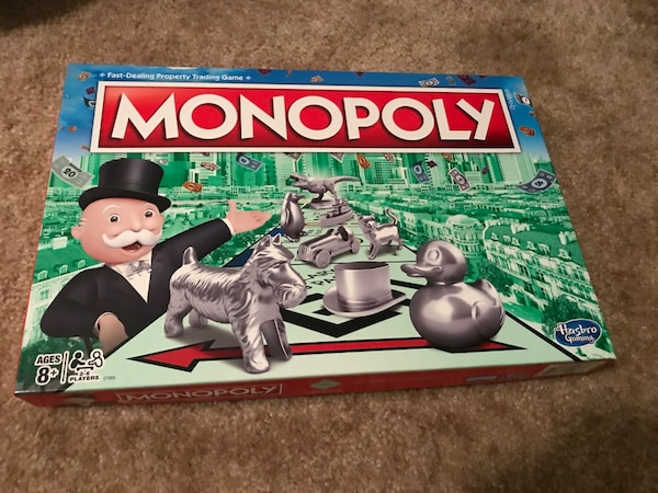 Monopoly and Escape Room Board Games
