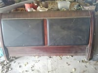 Queen size sleigh bed frame and footboard