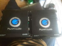 2) planet audio ac1500.1m amplifiers 1ch Allentown