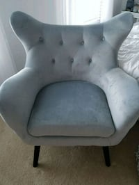 Light grey tufted wingback chair  Silver Spring, 20904