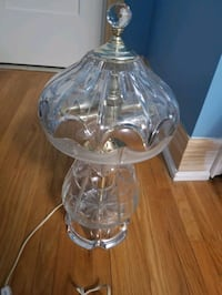 Antique Pair Crystal Glass Lamps Mississauga, L4T 2P2