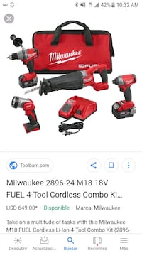 red Milwaukee cordless power tool screenshot 225 mi