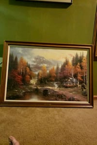 brown wooden framed painting of house near trees Milwaukee, 53212