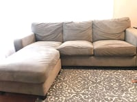 Couch with chaise $100 obo - cash and pick up only