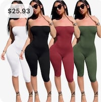 Sexy strapless jumpsuit