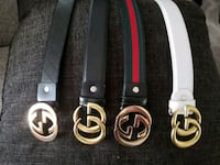Leather belts 65 each firm no trades