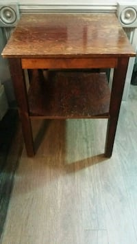 VINTAGE HOMEMADE 1940-1950's STAINED PLYWOOD TABLE Phoenix, 85020