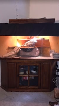 handmade wooden reptile cage