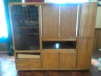 brown wooden TV hutch  Victorville, 92395