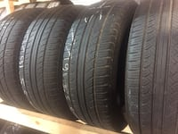 Matching set (4) 205 55 16 tires for only $38 each with free installation included