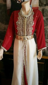 women's red and brown traditional dress Montréal, H1H 4W2