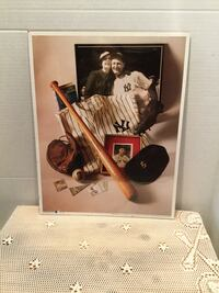 NY Yankee Lou Gehrig Iron Horse Print  New in sealed plastic  14x11 inches  Riverside, 92506