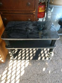 black and gray TV stand Nashville