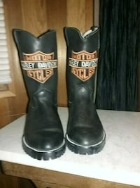 Leather Harley Davidson ladies boots