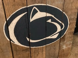 Hand painted Penn State pallet wall plaque
