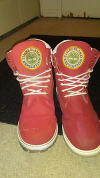 Special edition red mens timberland Edmonton, T6J 2P2