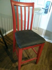 Wooden Bar Chair W/Leather Seat Lakeland, 38002