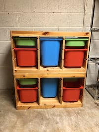 2 Stackable Wooden Cubbies