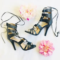 Black Lace Up Heels  Temecula, 92590