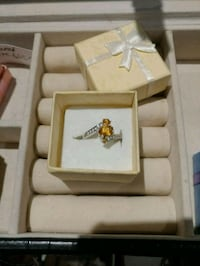 Natural citrine 925 Silver ring.  Toronto, M4T 1N8