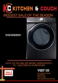 black and gray Samsung front-load washer Brampton