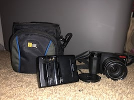 Camera and carrier bag