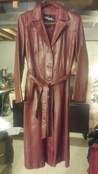 brown leather wilsons trench coat Crown Point, 46307