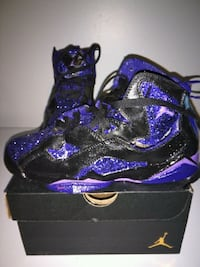Custom Jordans painted by my son size 6