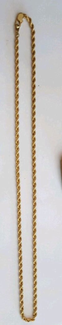 """14k gold plate 20"""" Rope Chain Cambridge, N1S 4Z3"""