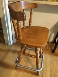 brown wooden windsor armless chair Falls Church, 22041
