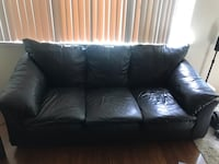 Black leather 3-seat and 2 seat sofa Redwood City, 94062