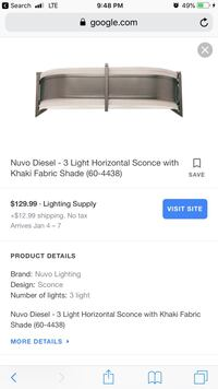 Satco luxurious Led Bathroom/ wall sconce ( New ) Beltsville, 20705