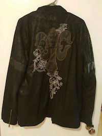 Men's leather jacket Calgary, T3E