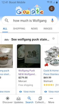 Wolf GangPuck ,post and pans