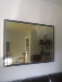 white and brown wooden framed wall mirror Dartmouth, B2W 5Z9