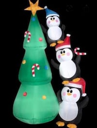 6.5 Ft Christmas Inflatable Tree and Penguins  Kleinburg, L4H 4A3