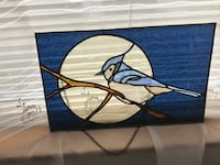 """Stained  glass Bluejay 16""""x10"""""""