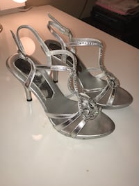 Silver prom/homecoming heels Bryan, 77803