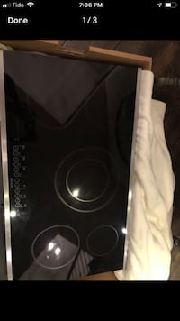 "Brand new 36"" electric stove top"