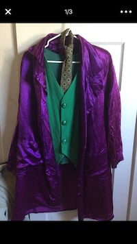 purple and green floral button-up coat San Diego, 92102