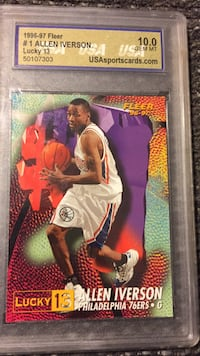 Allen Iverson 1996/97 ultra lucky redemption rookie SP #1 76s HOF Sterling Heights, 48312