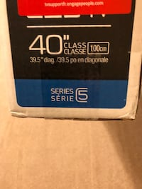 "40"" Samsung smart TV in box"