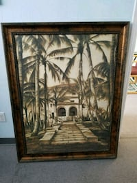 brown wooden framed painting of house Bakersfield, 93311
