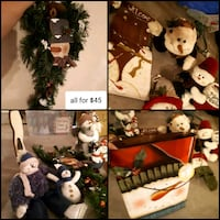 assorted Christmas themed decors collage Edmonton, T5Y 6M1