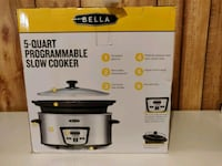 BELLA 5 qt. Programmable Stainless Steel Slow Cooker  Chantilly, 20151