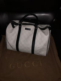 White and black leather Gucci tote bag Fairfax, 22033