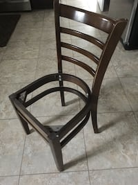 Seatless wooden chairs