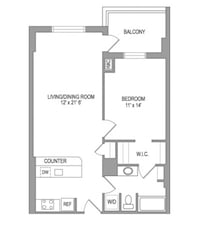 APT For rent 1BR 1BA Arlington