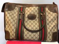 Brown and green gucci monogram leather handbag Richmond, V6V