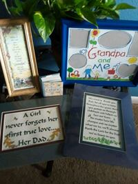 Dad/grandpa frames and  tiny book Bryan, 77802